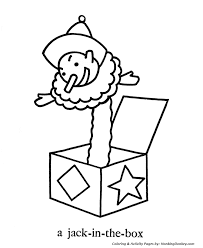 April Fool S Day Coloring Pages Jack In The Box Clown Coloring Box Coloring Pages