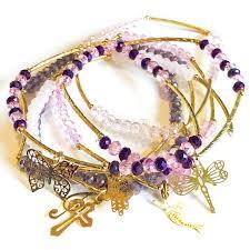 light purple necklace images Light purple shades stackable bracelets 14kts of gold plated raf jpg