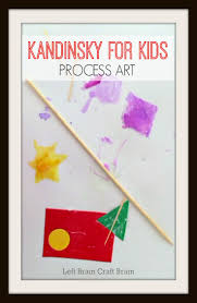 five minute crafts kandinsky for kids process art left brain