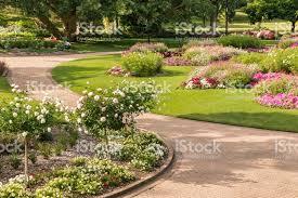 City Botanic Gardens Floral Display In City Botanic Gardens In Brisbane Stock Photo