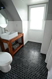 Small Black And White Tile Bathroom Small Bath Remodel Part Dos Argos Paint Bathroom And Tile Flooring