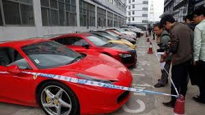 police ferrari twelve supercars seized by chinese police