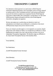 theosophy cardiff wales uk letter of resignation from the