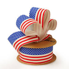rustic ribbon cotton american flag ribbon