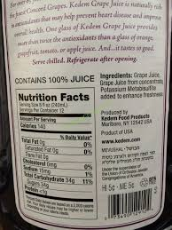 welch s light grape juice nutrition facts kedem concord grape juice 2 96 ounce bottles costcochaser