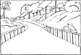 printable scenery coloring pages scene coloring pages eassume