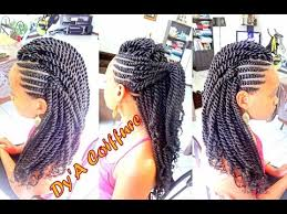 cornrow and twist hairstyle pics how to mohawk style with ghana cornrows havana twist by dy