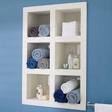 Small Bathroom Shelves Ideas Colors Small Bathroom Idea Shelves In The Wall Not Sticking Out From It
