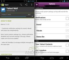 yahoo mail android yahoo mail for android updated with custom notifications