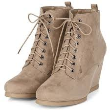 s boots wedge light brown lace up wedge boots s t y l e more