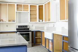 paint stained kitchen cabinets how to paint unfinished cabinets budget kitchen remodel