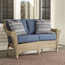 Ideas For Outdoor Loveseat Cushions Design Unique Living Room Furniture Design With Rustic Wicker Table And
