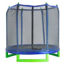 skywalker trampolines 15 u0027 round trampoline and enclosure green