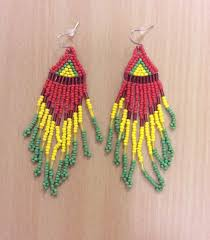 reggae earrings rasta bead work earrings rasta fairies reggae clothes jewelry