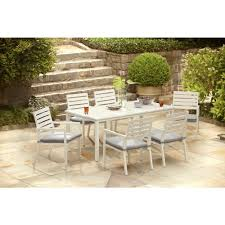 8 Piece Patio Dining Set - hampton bay blue springs 7 piece patio dining set with blue dot