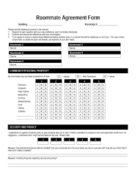 Private Child Support Agreement 40 Free Roommate Agreement Templates U0026 Forms Word Pdf