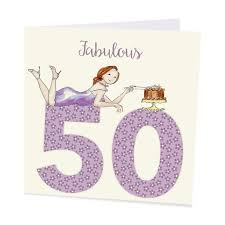 fab 50 fiftieth birthday card for a fabulous on 50th