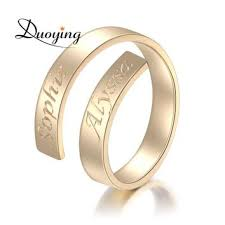 custom name ring shop gold name rings personalized on wanelo