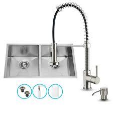 vigo kitchen faucets vigo vg15017 stainless steel 32 basin undermount kitchen