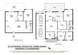 south coast prestige properties 26 cathedral rocks avenue kiama floorplan