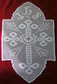imagenes religiosas a crochet crochet filet napperon croix dentelle art religieux crochet
