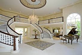 Townhouse Stairs Design Double Curved Staircase Characterization Of A House Home