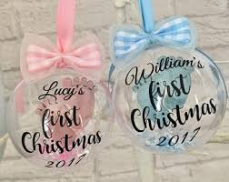 Baby S First Christmas Bauble by First Christmas Etsy