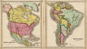 North America South America Map by North America Old Maps Zoom Maps