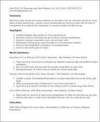 Data Analyst Resume Examples by Professional Sales Analyst Templates To Showcase Your Talent