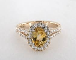 gemstone wedding rings yellow sapphire engagement rings jamesallen