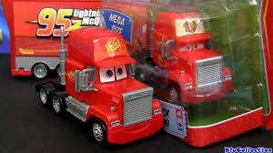 lightning mcqueen monster truck videos mack truck hauler car wash playset cars 2 with lightning mcqueen