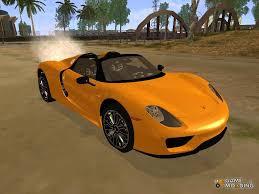 Porsche 918 Orange - porsche 918 spyder 2014 for gta san andreas