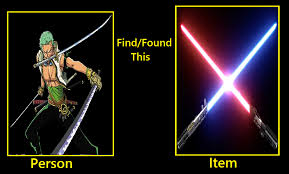 Lightsaber Meme - what if zoro find the lightsabers by keyblademagicdan on deviantart
