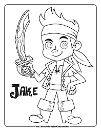 ideas jake neverland pirates coloring pages