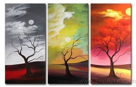 china modern abstract art landscape oil painting on canvas for