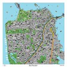 san francisco map map of san francisco sparks