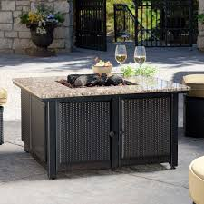 exterior magnificent fire pit dining table decoriest home