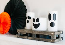 how to make hanging halloween ghosts tos diy ghost candles loversiq how to make hanging halloween ghosts tos diy ghost candles target home decor linon