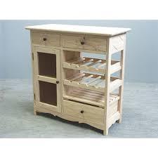 meuble tiroir cuisine de cuisine hévéa 3 tiroirs 1 porte grillagée 1 étagères 2 racks