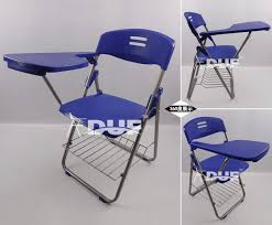 Ergonomic Folding Chair Supply Writing Tablet Chair With Book Basket Folding Chair