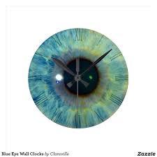 weird clock funny blue eye wall clock sold stuff sold on zazzle