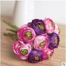 Ranunculus Flower Real Touch Silk Flowers Simulation Ranunculus Flower Artificial
