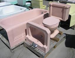 Pink Tubs Pink Sinks Pink Toilets Pink Tile Save The Pink Vintage Bathroom Fixtures For Sale