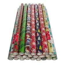 jumbo roll christmas wrapping paper paper craft 24 pack christmas wrapping paper jumbo rolls bulk set