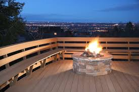 can you put a fire pit on a deck hunker