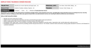 family business owner cover letter u0026 resume