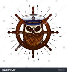 vector skull captain hat beard on stock vector 481441009