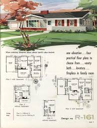 small retro house plans town u0026 country ranch homes 1962 vintage house plans 1960s