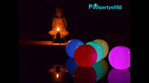 floating pool ball lights colour changing beach balls pool party led lighting youtube
