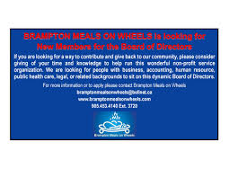 Seeking New Brton Meals On Wheels Bmow Is Seeking New Board Members